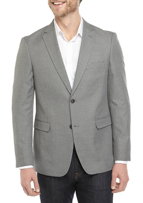 Saddlebred® Mens Gray Check Sport Coat