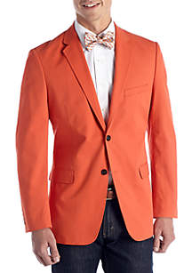 Classic-Fit Cotton Oxford Mid Orange Blazer