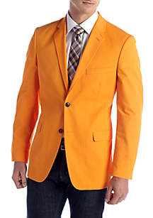 Saddlebred® Classic-Fit Cotton Oxford Bright Orange Blazer