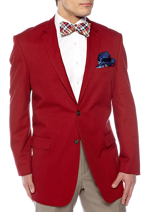 Saddlebred® Classic Fit Cotton Red Blazer