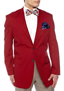 Classic Fit Cotton Red Blazer