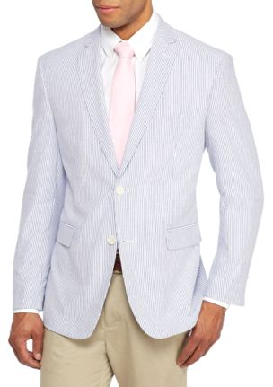 Saddlebred Seersucker Stripe Sport Coat