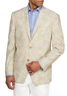 Palm Pattern Sport Coat