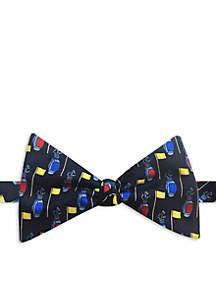 Happy Ties Golf Bag Print Bow Tie