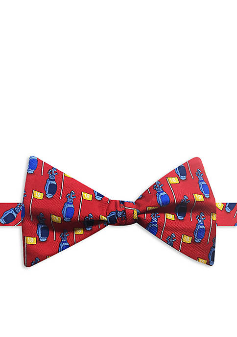 Happy Ties Golf Bag Print Bow Tie
