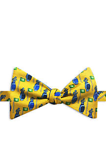 Golf Bag Print Bow Tie