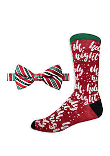 Holy Night Stripe Bow Tie and Socks Set