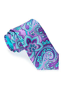 Paisley Floral Print Tie