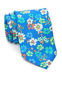 Floral Print Medium Neck Tie