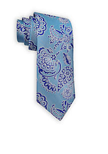 Mens HT Paisley Two Tone Woven Tie