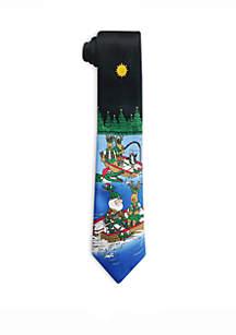 Santa Fishing Tie