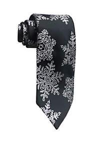 Large Snowflake Print Tie