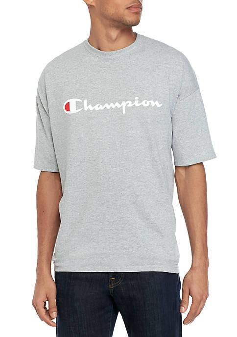 Champion® Big & Tall Short Sleeve Script Graphic