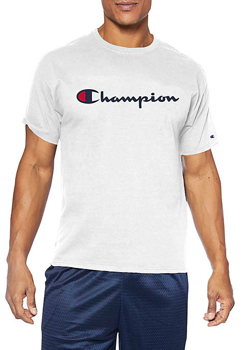 Champion® Big & Tall Short Sleeve Script Graphic