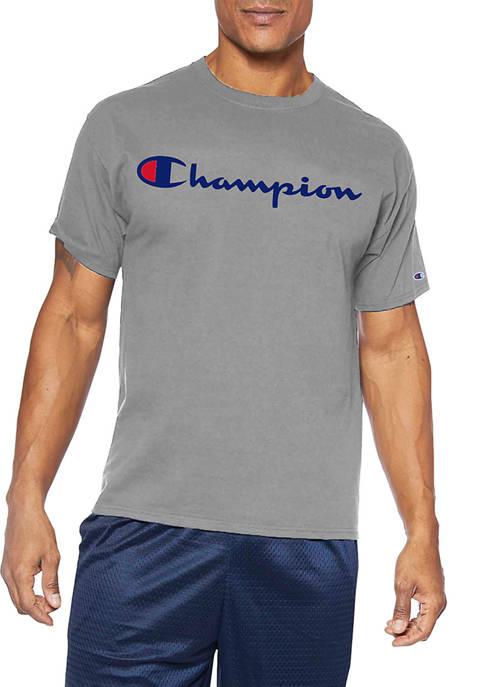 Champion® Big & Tall Short Sleeve Logo Script