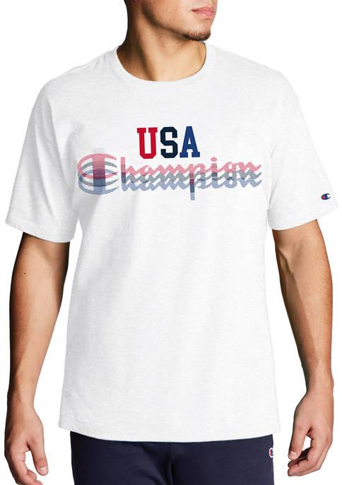 Champion® Big & Tall USA Graphic T-Shirt