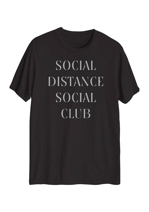 Big & Tall Social Distance Club Graphic T-Shirt