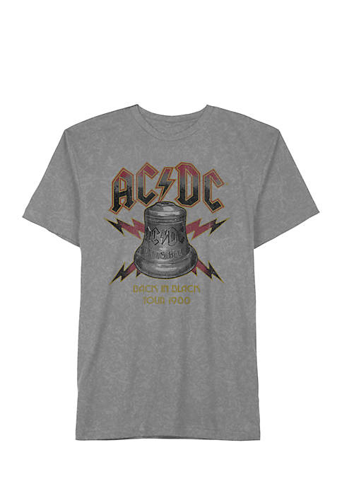 AC/DC Mineral Wash Graphic T-Shirt