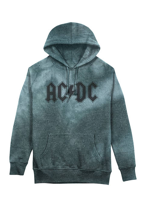 ACDC Rock Graphic Tie Dye Hoodie