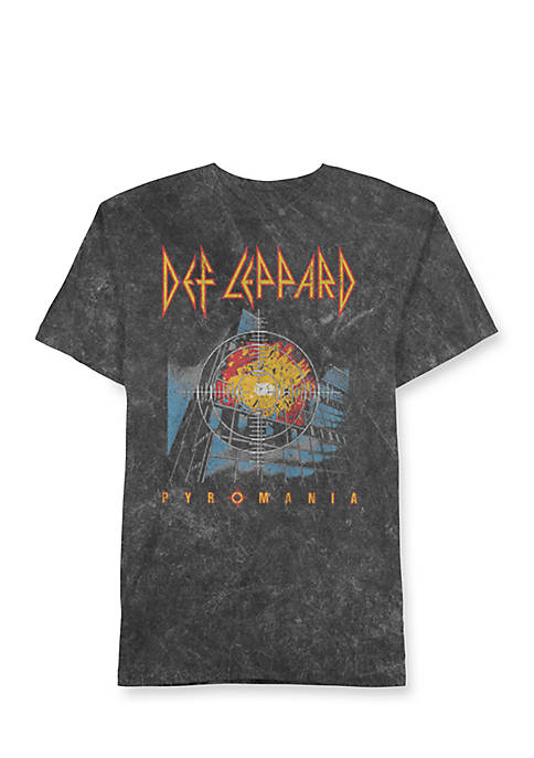 Well Worn Short Sleeve Def Leppard Pyromania Graphic