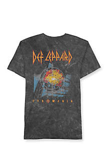Well Worn Short Sleeve Def Leppard Pyromania Graphic Tee