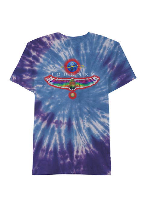 Journey Short Sleeve Cotton Tie Dye Graphic T-Shirt