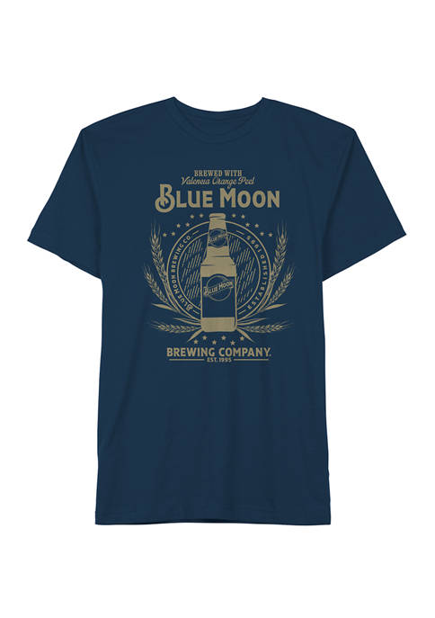 Blue Moon Big & Tall Casual Graphic T-Shirt