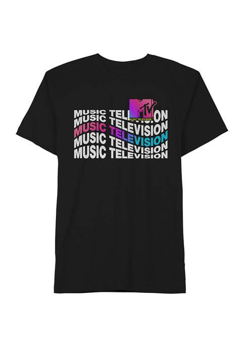 MTV Short Sleeve Wavy Graphic T-Shirt