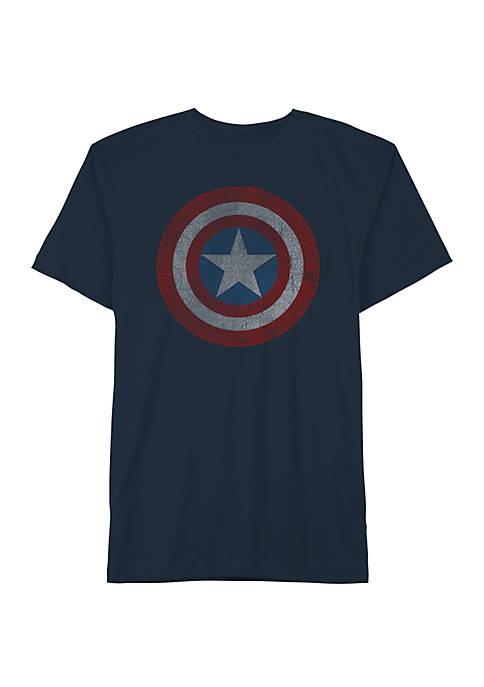 Big & Tall Marvel Shield Crew Neck Graphic T-Shirt