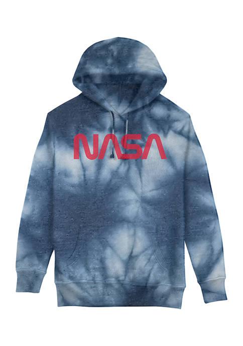 Juniors NASA Tie Dye Graphic Hoodie