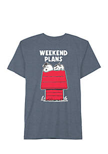 Well Worn Short Sleeve Snoopy Weekends Got Me Like Graphic Tee