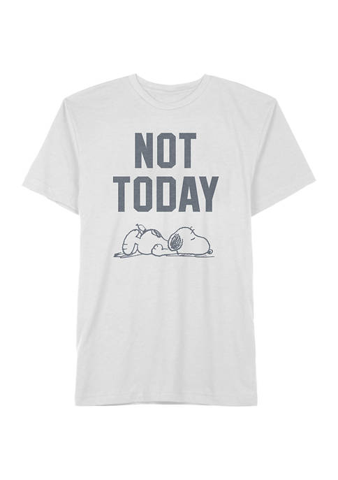 Juniors Not Today Snoopy Graphic T-Shirt