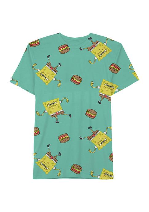 Wavy Burger Celadon Graphic T-Shirt