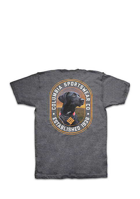 Columbia Short Sleeve Black Lab Circle Graphic Tee