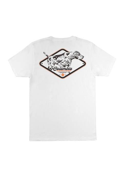 Columbia Short Sleeve Cotton Dog Graphic T-Shirt