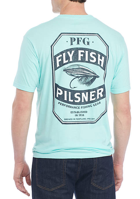 Columbia Pilsner Fly Fish Tee Shirt