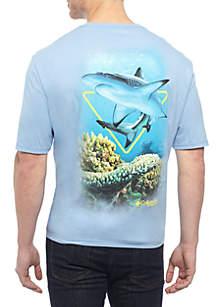 Big & Tall Short Sleeve Arkey Triangle Shark Tee Shirt