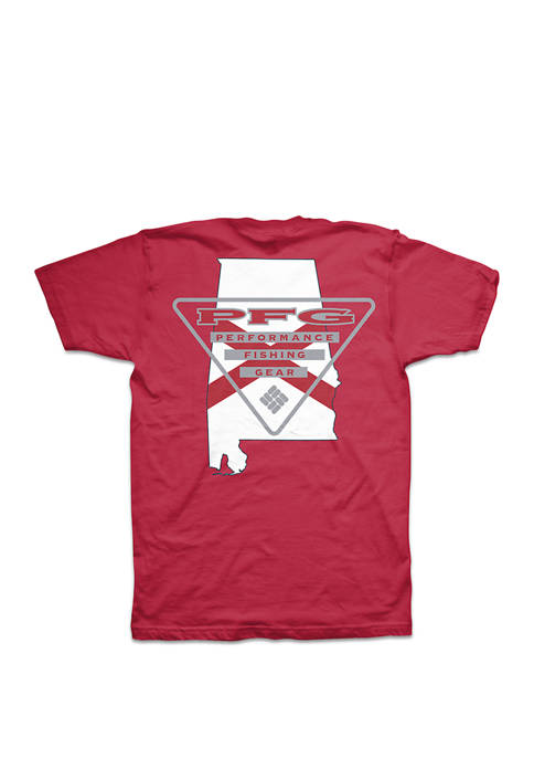 Columbia PFG Triangle Alabama Tee