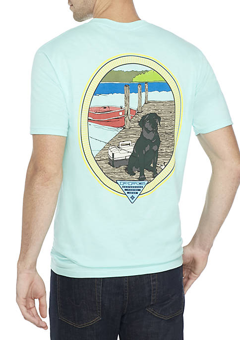 Columbia PFG Black Lab Tee