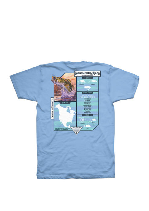 Columbia Short Sleeve PFG Bass Stats Tee