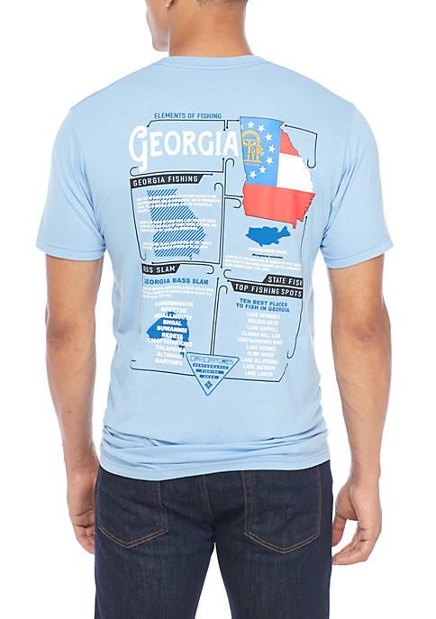 Columbia Short Sleeve PFG Elements GA Graphic T-Shirt