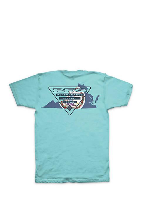 Columbia Short Sleeve PFG Virginia Triangle Tee