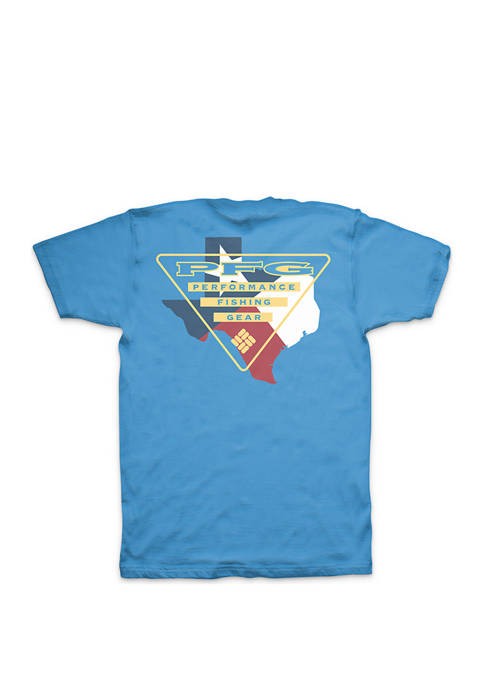 Columbia Short Sleeve PFG Texas Triangle Tee