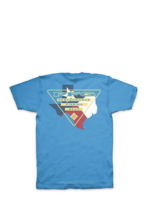 Columbia Short Sleeve PFG Texas Triangle Tee