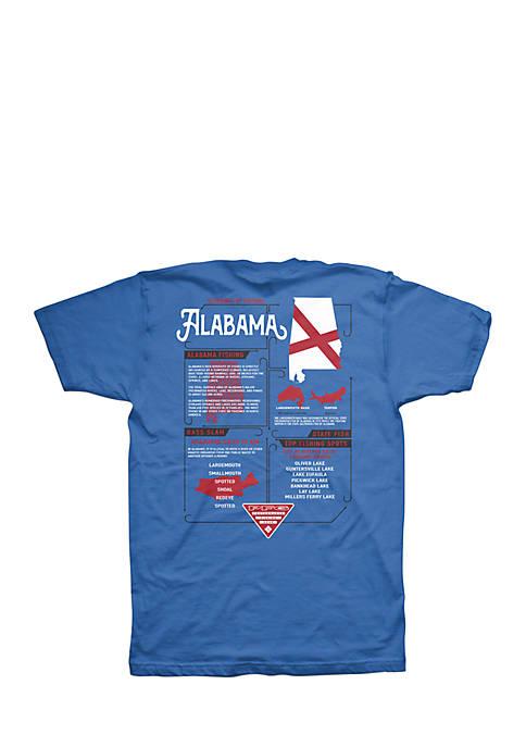 Columbia Short Sleeve PFG Alabama Elements Tee