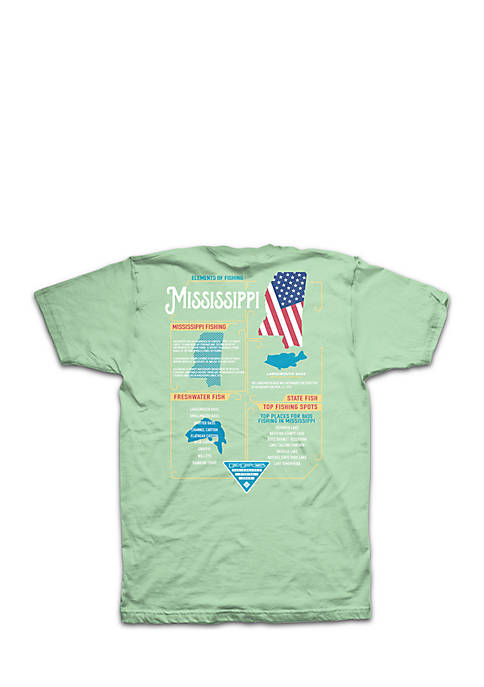 Columbia Short Sleeve PFG Elements Mississippi Tee
