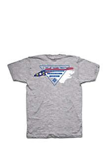 Columbia Short Sleeve PFG Triangle North Carolina Tee