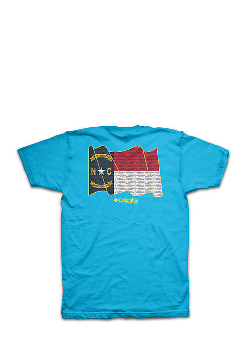 Short Sleeve PFG North Carolina State Flag Tee