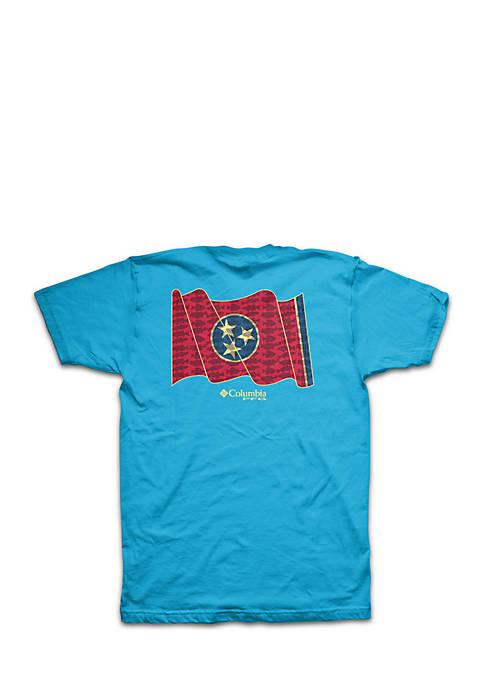 Columbia Short sleeve PFG Tennessee State Flag Tee