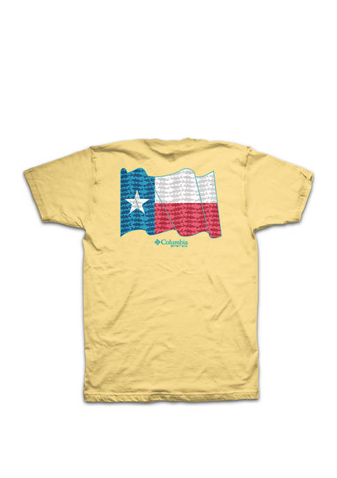 Columbia Short sleeve PFG Texas State Flag Tee